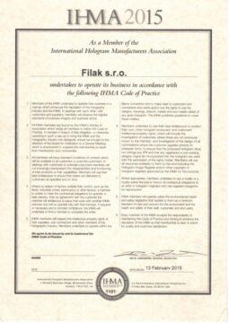 IHMA - certifikát